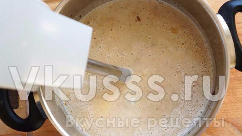 Готовим грибной суп-пюре