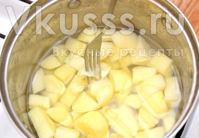 Картошка для блюда грибной суп-пюре