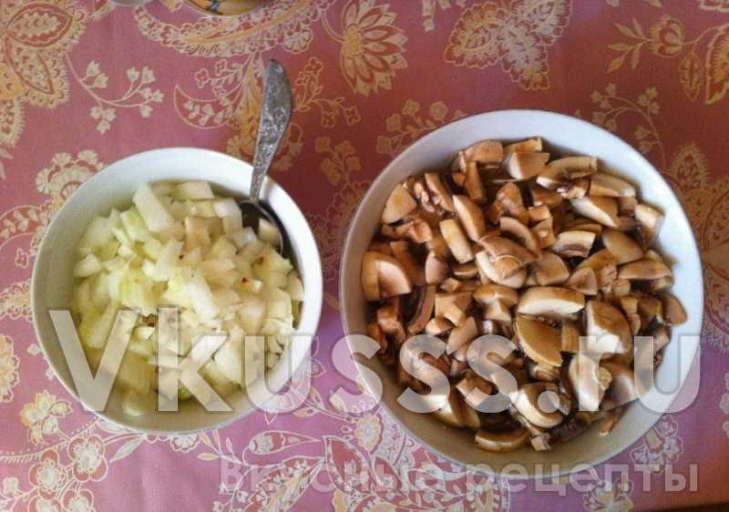 Ингредиенты для блюда грибной суп-пюре