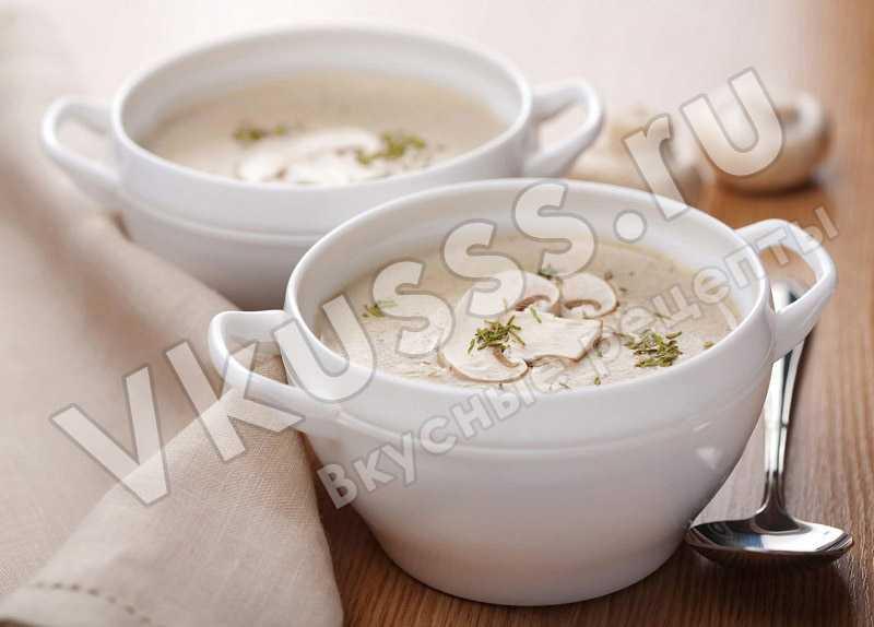 Готовый грибной суп-пюре