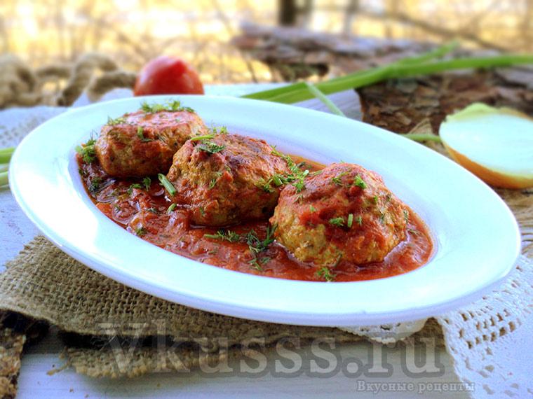 Биточки мясные с подливкой - вкусный рецепт!