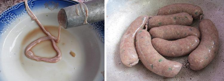 делаем домашние колбаски в кишке рецепт с фото