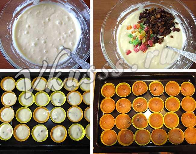 как приготовить кексы в силиконовых формочках на сметане