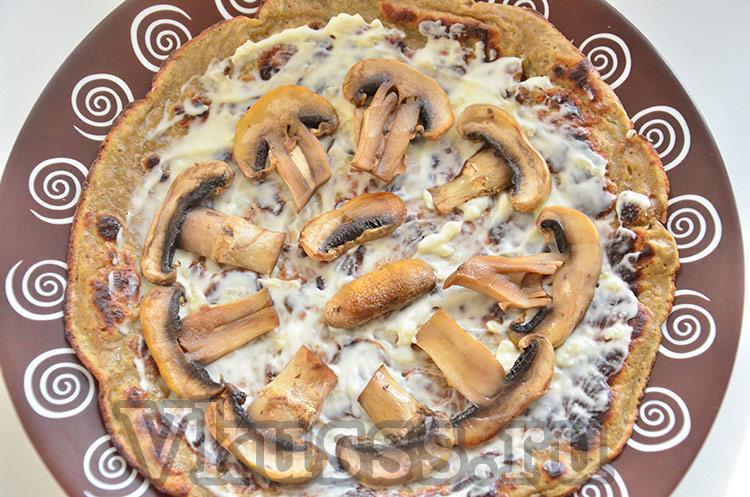 Печеночный торт с грибами шампиньонами