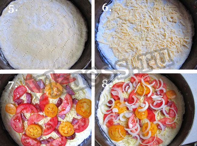 быстрый рецепт пиццы в духовке с сыром