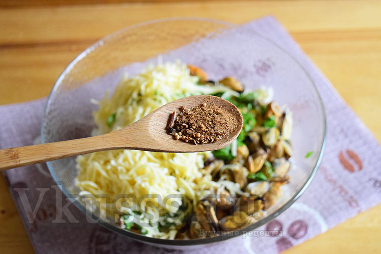 Специи к салату с мидиями
