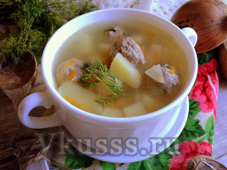 Готовим вкусный суп с фрикадельками: пошаговый рецепт, фото