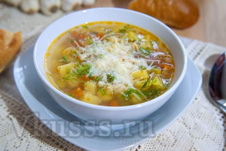 Вкусный итальянский суп Минестоне