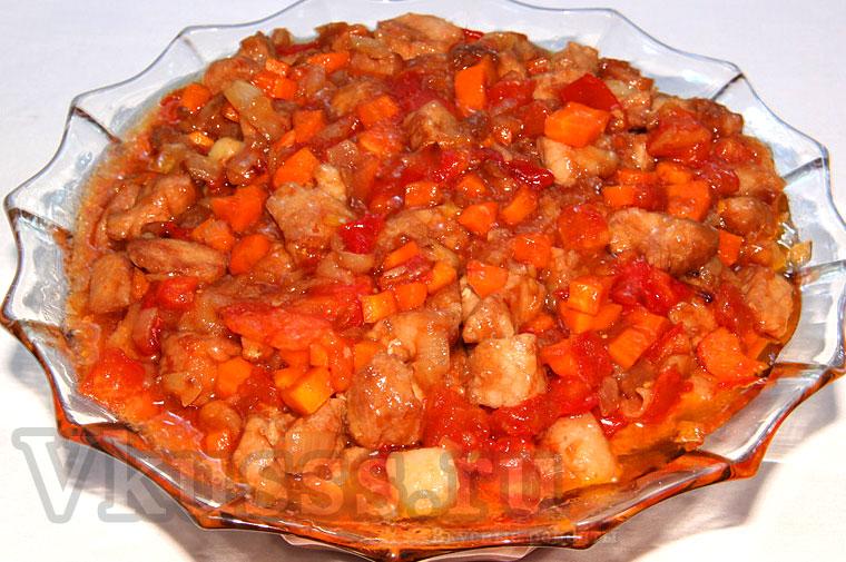 Свинина в кисло-сладком соусе по-китайски