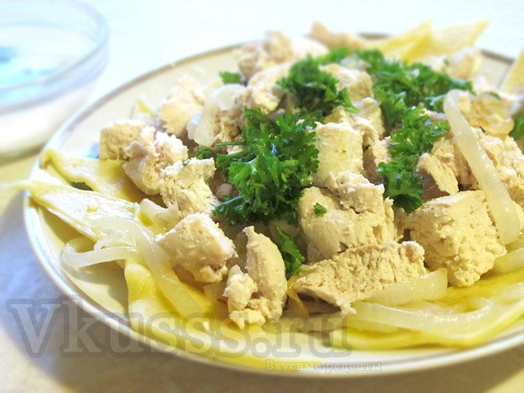 Бешбармак из курицы: пошаговый рецепт фото