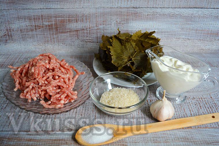 Продукты для армянской долмы