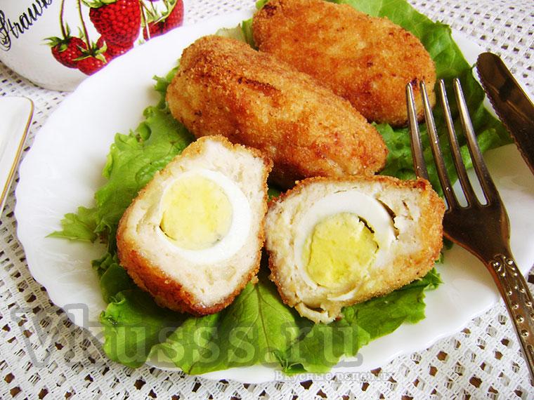 Вкусные котлеты с яйцом внутри