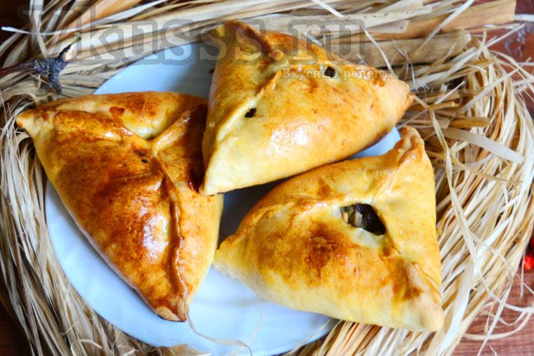 Треугольники с мясом и картошкой (эчпочмаки рецепт пошагово)