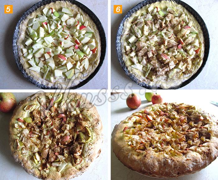 пирог с яблоками в духовке рецепт пошагово фото