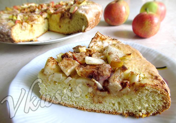 вкусный пирог с яблоками рецепт фото