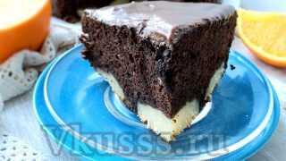 Шоколадный пирог с творожными шариками: пошаговый рецепт