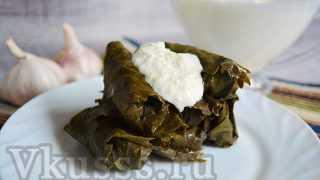 Долма по-армянски: рецепт с фото (с чесночным соусом)