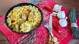 Плов из свинины в казане: рецепт с фото пошагово