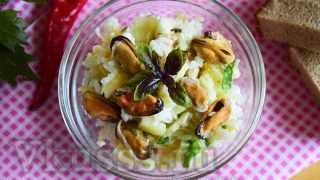 Салат с мидиями: очень вкусный рецепт (фото)