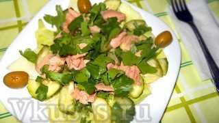 Салат из тунца консервированного (рецепт классический)