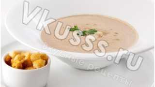 Как приготовить грибной суп-пюре?
