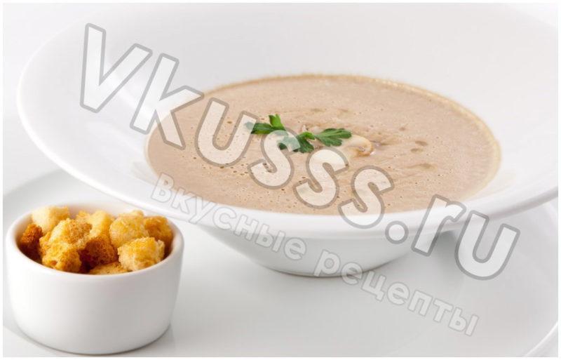 Как варить крем суп грибной