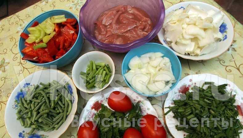 Продукты для готовки лагмана