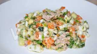 Рецепт салата из печени трески и яиц (с фото)