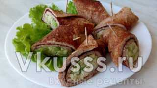Яичный ролл с авокадо и зеленью - ресторанный рецепт с фото