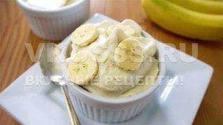 Диетическое банановое мороженное
