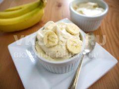 Готовый банановые десерт