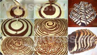 Приготовление пирога Зебра