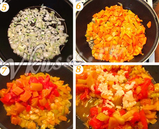 жареные баклажаны с овощами рецепт