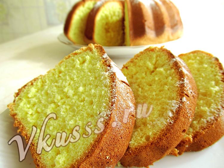 рецепт простого пышного бисквита в духовке