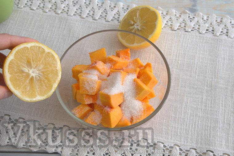 Готовим цукаты из тыквы