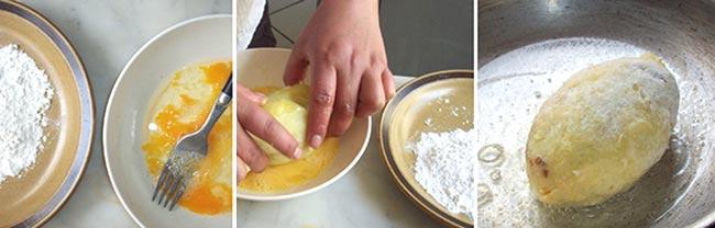 картофельные котлеты с фаршем внутри рецепт