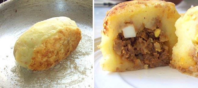 картофельные котлеты с фаршем внутри фото рецепт