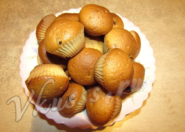 Как приготовить кексы в формочках на сметане рецепт с фото
