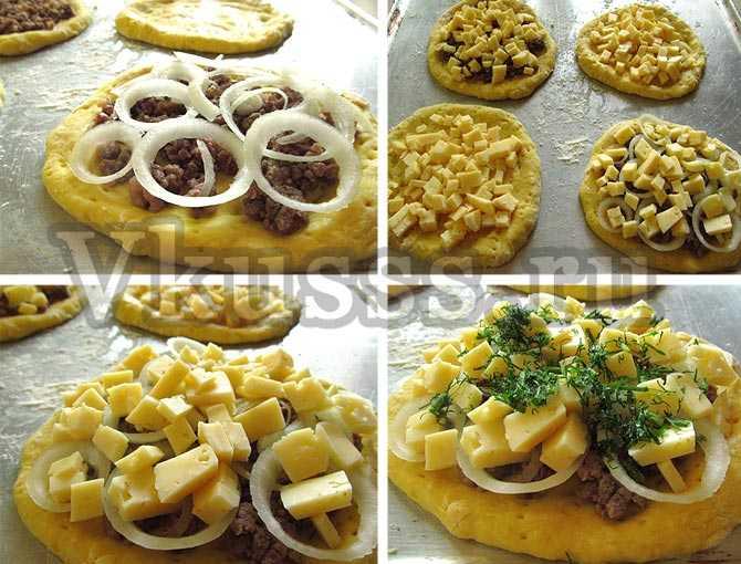 мини пицца рецепт фото с начинкой