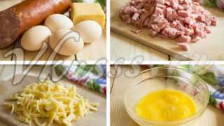 Как приготовить омлет рулетом с начинкой из колбасы и сыра