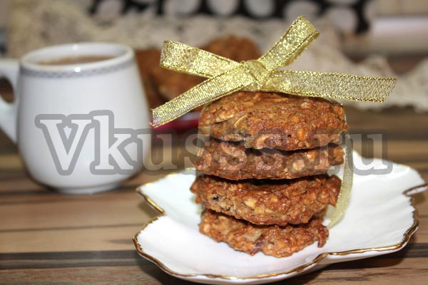 как испечь овсяное домашнее печенье