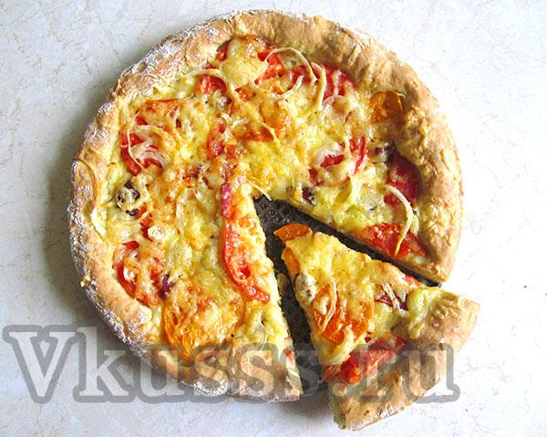 пицца с сыром в духовке рецепт