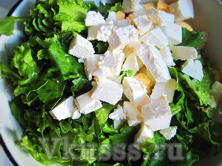 Вкусный овощной салат с фетой