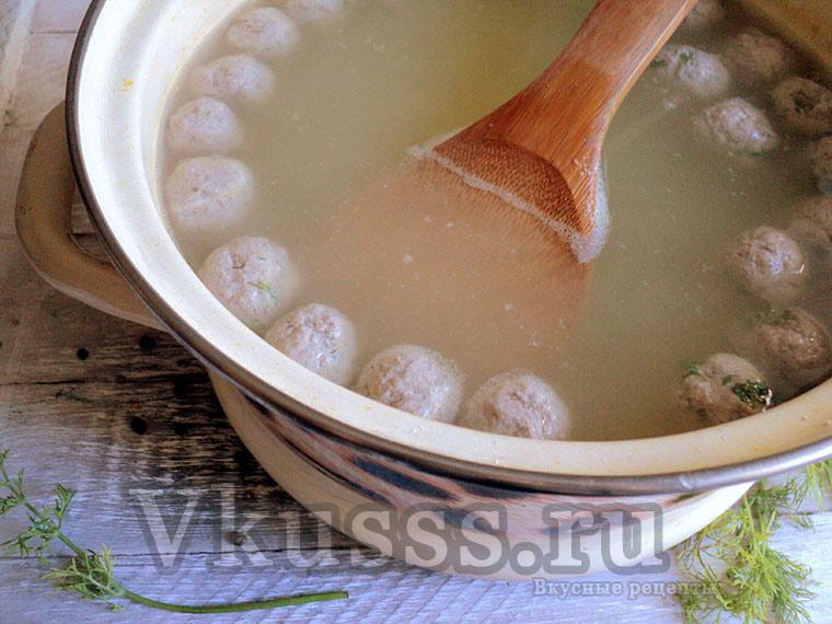 Как сварить суп с фрикадельками пошаговый рецепт