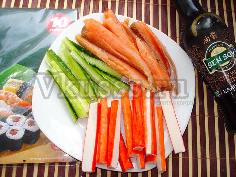 Рецепт роллов с крабовыми палочками