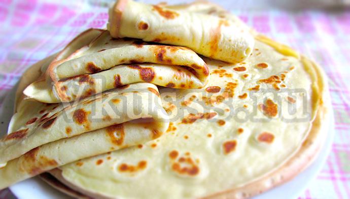 вкусные тонкие блинчики на молоке рецепт с фото
