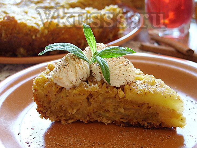 вкусный яблочный пирог в мультиварке рецепт