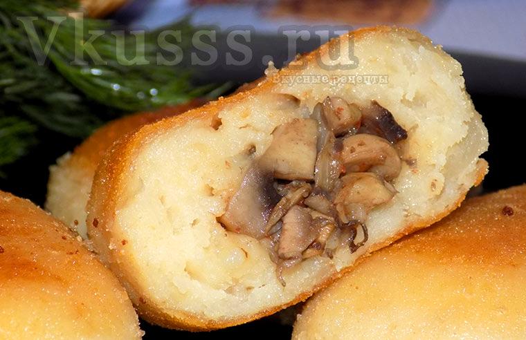 Рецепт зразы картофельные с грибами фото — pic 8